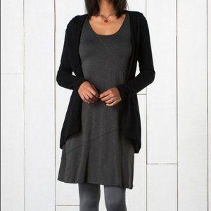 Horny Toad Oblique V Dress Cotton Blend Grey Sz L
